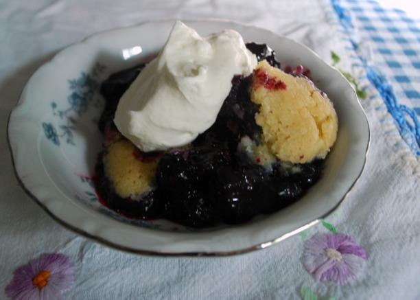 Blueberry cobbler 1