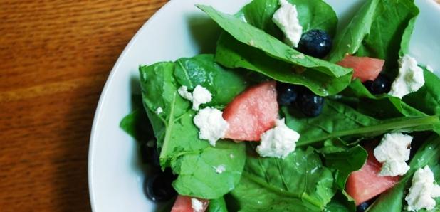 Arugula-watermelon salad 2